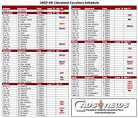 Cavaliers 2007-08 Schedule