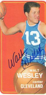 Walt Wesley signed trading card