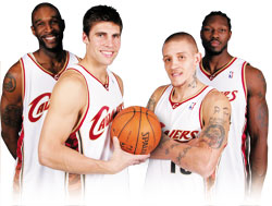 Ben Wallace, Wally Szczerbiak, Joe Smith and Delonte West