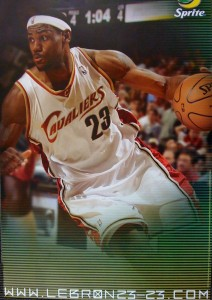 Lebron James Slam Dunk Sprite Poster