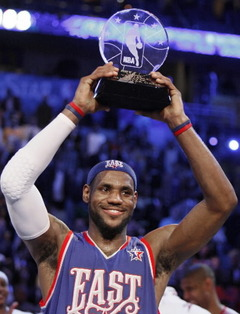 Lebron James won the All-Star MVP two times during the past three years.