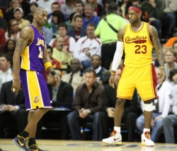 Lebron James leading Kobe Bryant for the MVP
