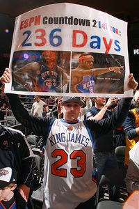 New York fans can't wait for Lebron James to become a free agent